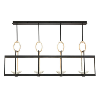 Delphi Pendant 895540 in black iron with gold accents