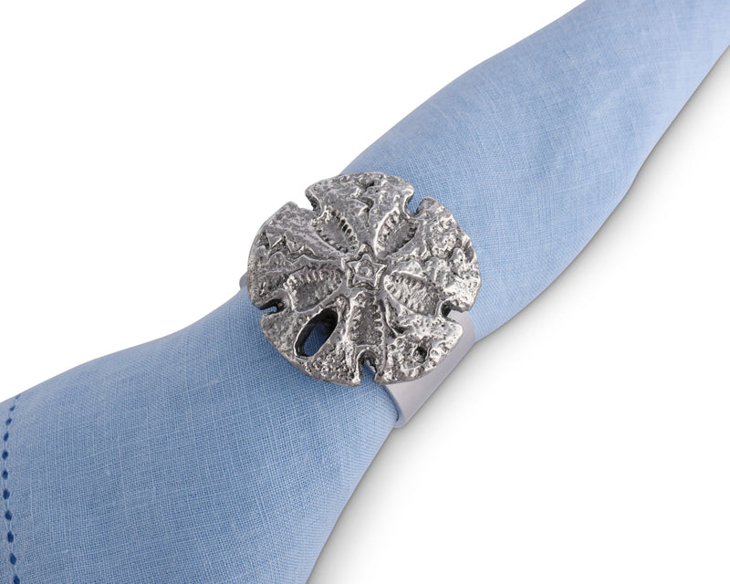 Sand Dollar Napkin Rings - Set of 4
