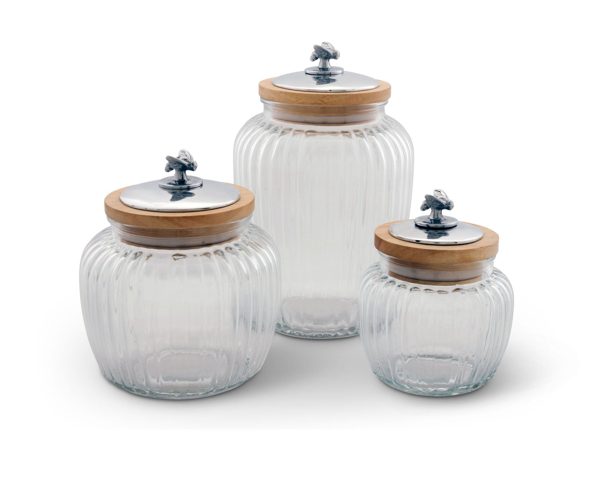 Honey Bee Glass Canister