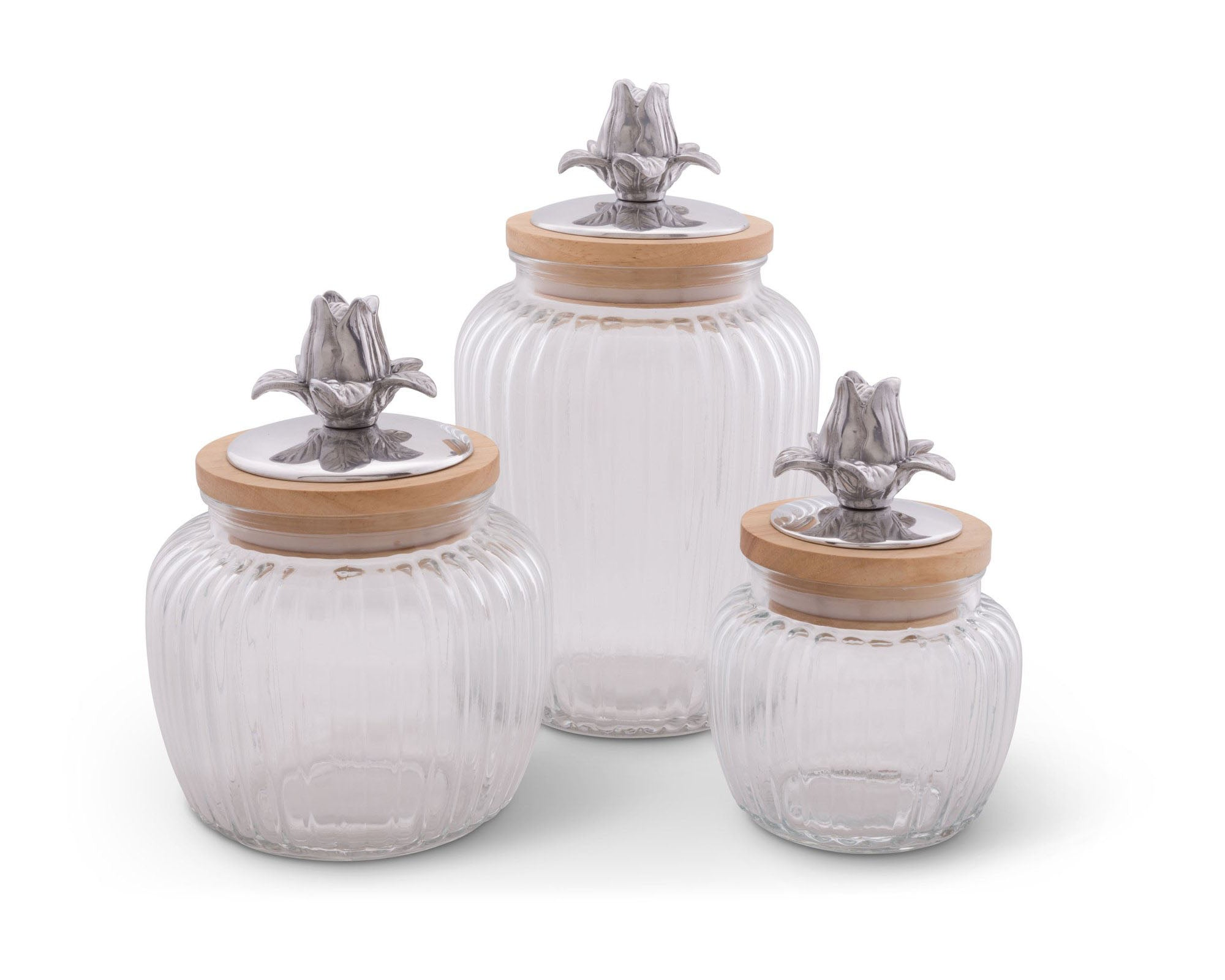 Magnolia Glass Canister
