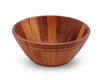 Bee Hive Style Wooden Acacia Salad Bowl Large