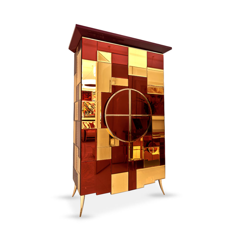 Armoire Mirrored Cabinet High End, Martin Perri Interiors