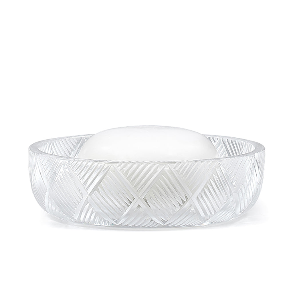 Basketweave Crystal Soap Dish
