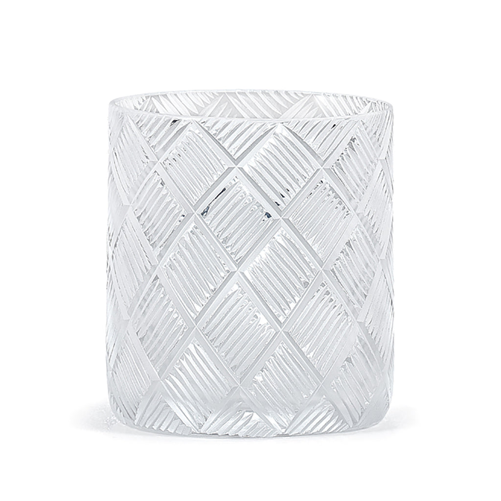 Basketweave Crystal Tumbler