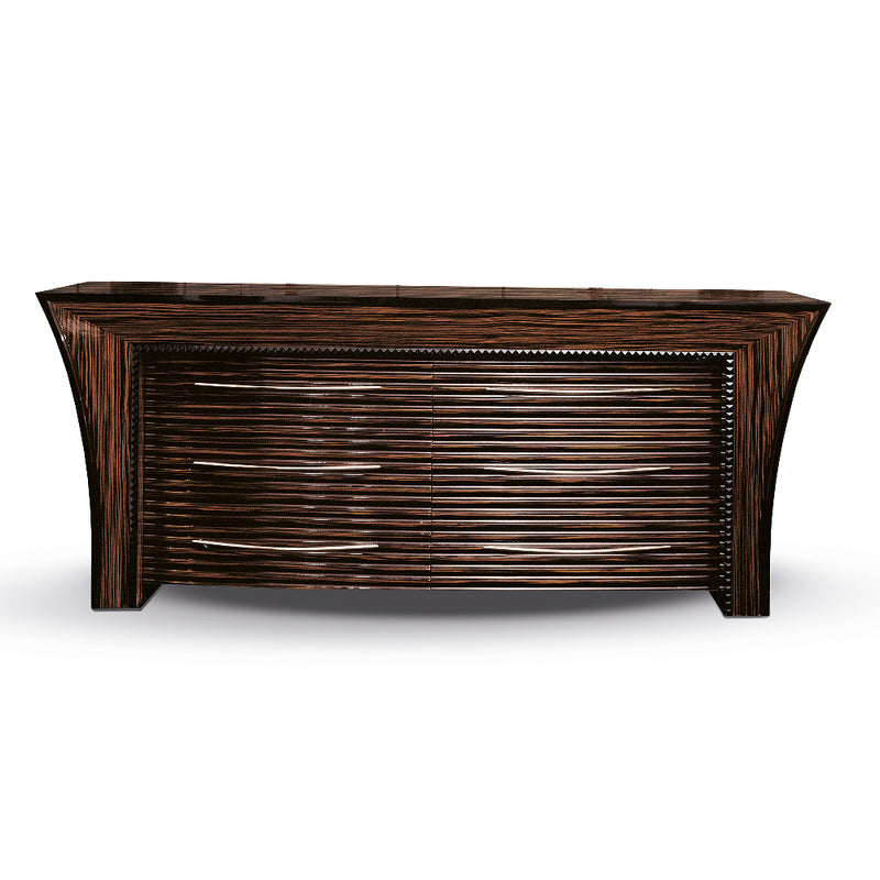 Macassar Ebony Sideboard 6 Drawers High Gloss.