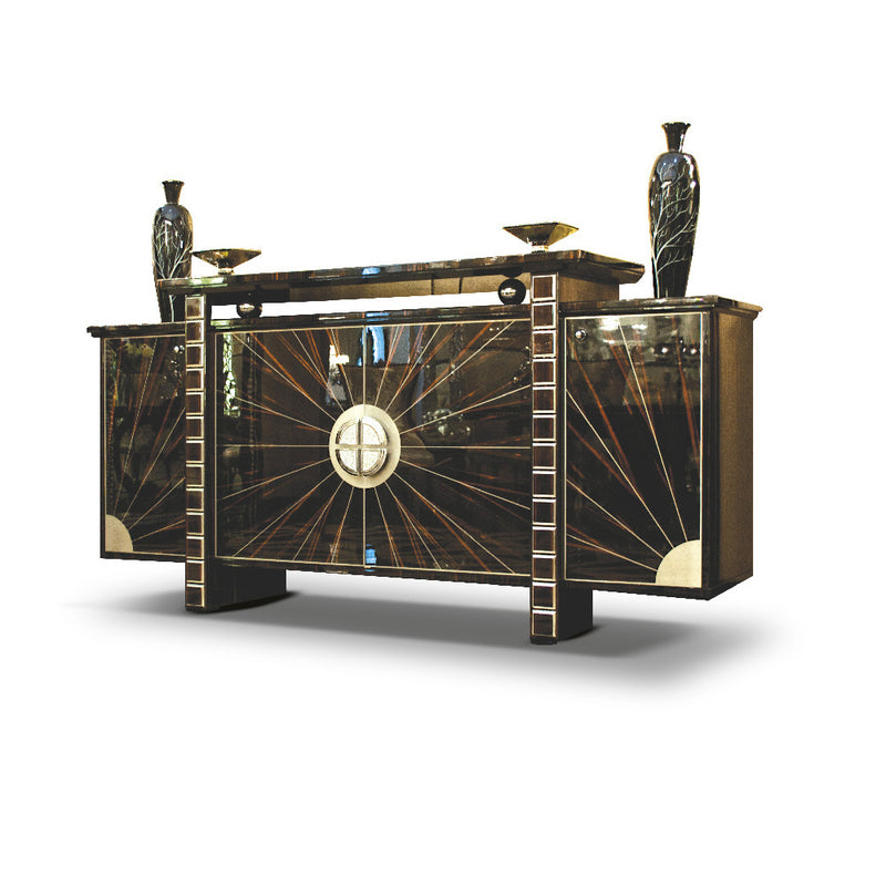 Francisco Molon C514 Sideboard High Gloss Macassar Ebony Art Deco Inspired