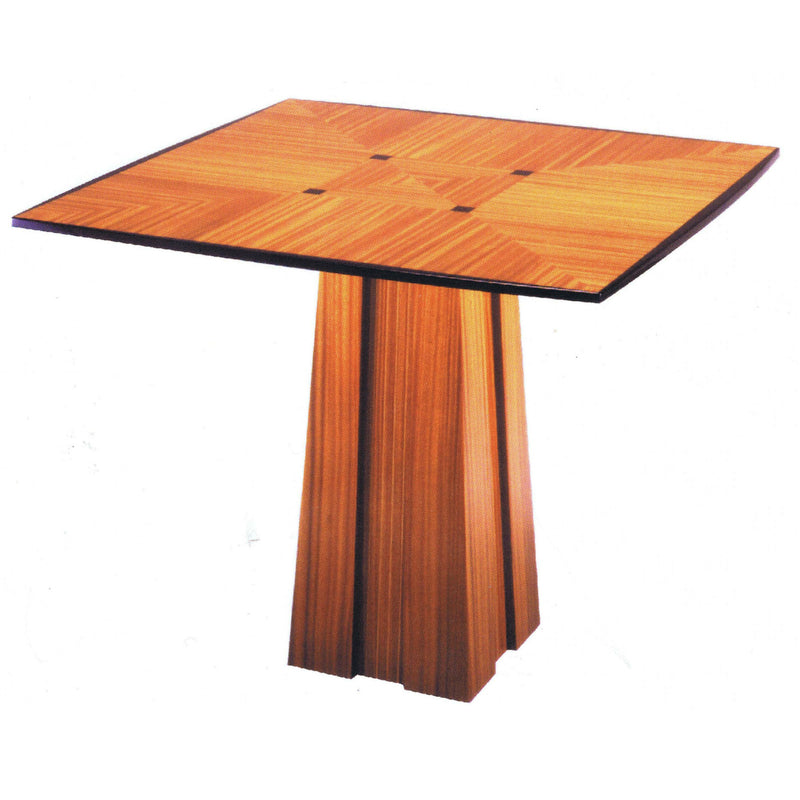 Card Table Contemporary with 4 Leather Chairs