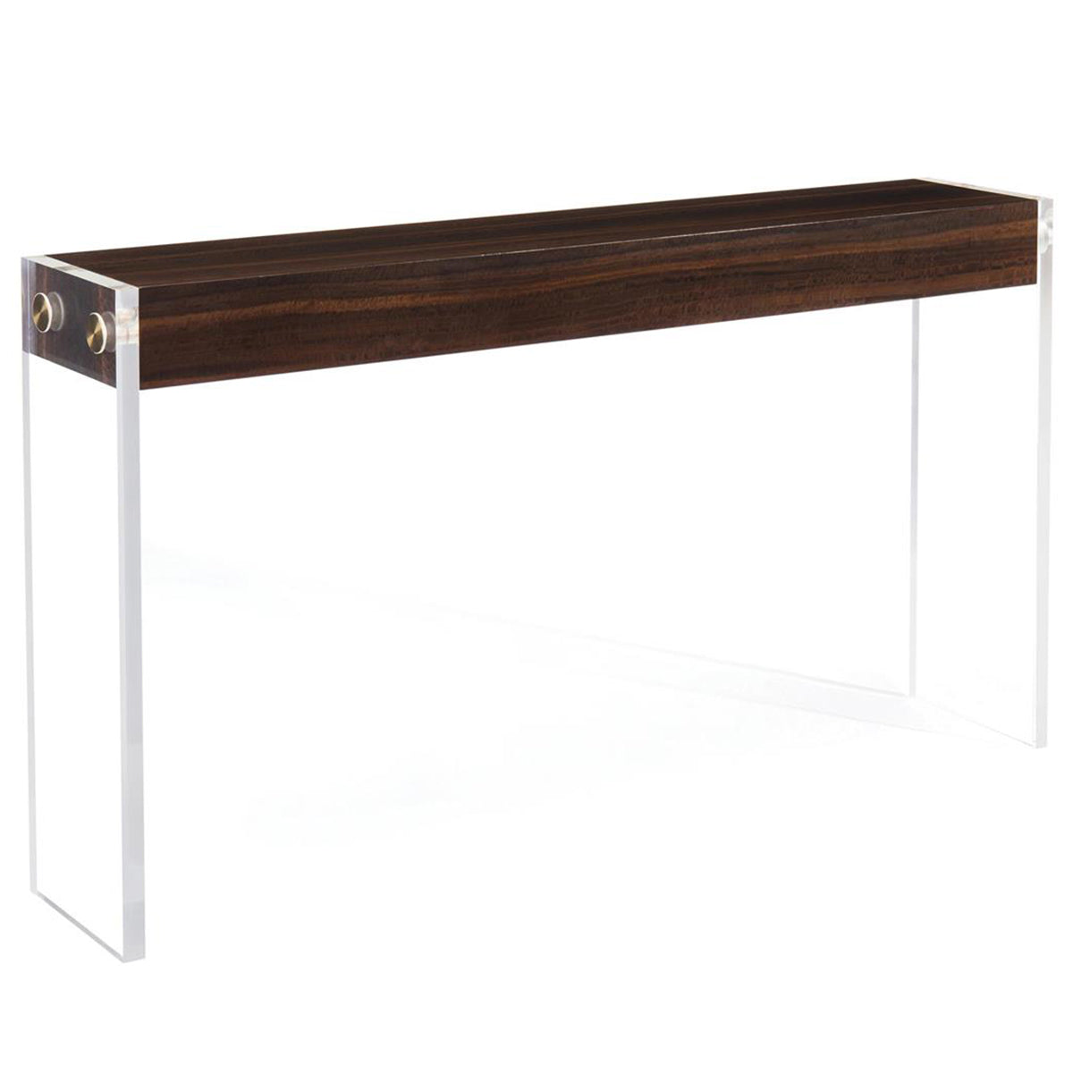 Aristar Console Table in Smoked Eucalyptus