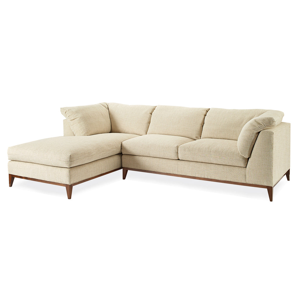Ridley Sectional With Wooden Base