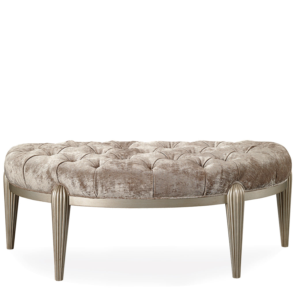 Swaim F525 Bench Shown in Silver Leaf