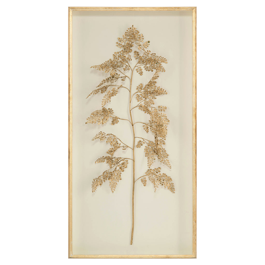 Golden Frond on Ivory I