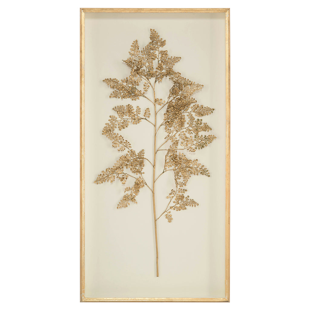 Golden Frond on Ivory II