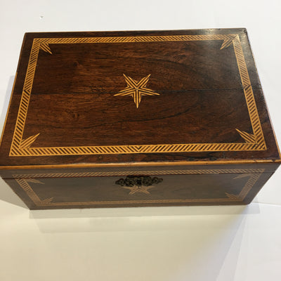 Antique Marquetry box with Star