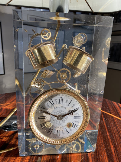 Pierre Giraudon Exploded Clock Custom Table Lamp