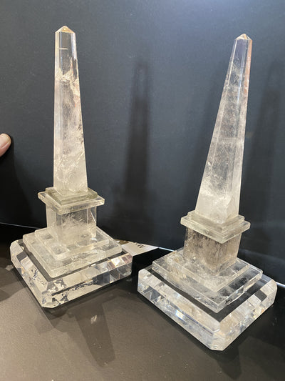 Obelisks Rock Crystal, from the Daniel Bibb Home, Garden of Good and Evil