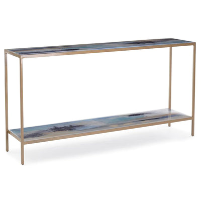 Susan Godwin's Miles Apart Sofa Table with Shelf