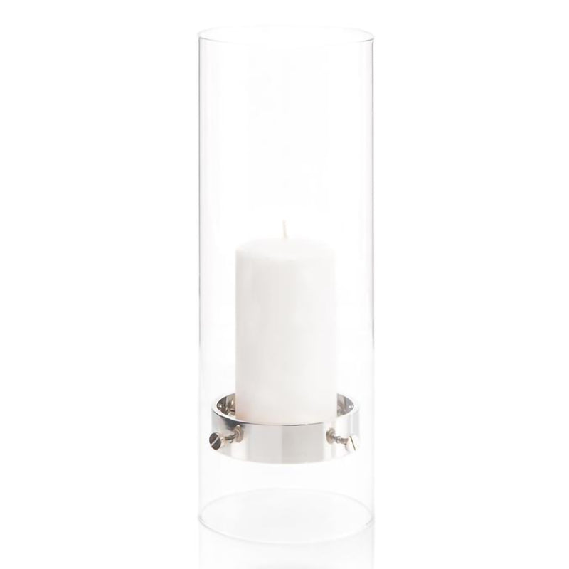 Floating Candle Holder in Nickel