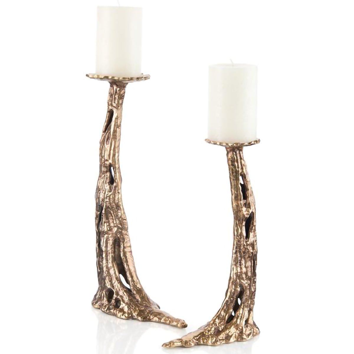 Set of 2 Carlton Horn Candleholders
