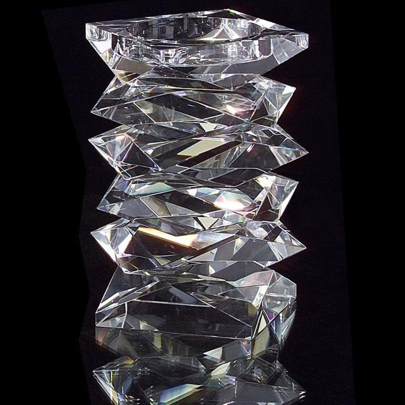 Stacked Crystal Candleholder