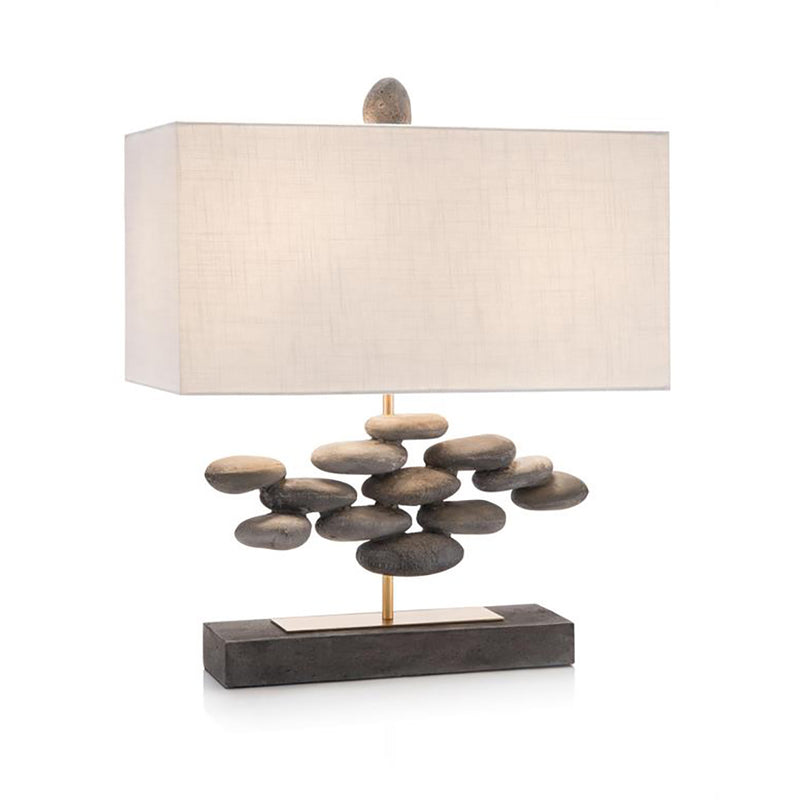 Stacked River Rock Lamp