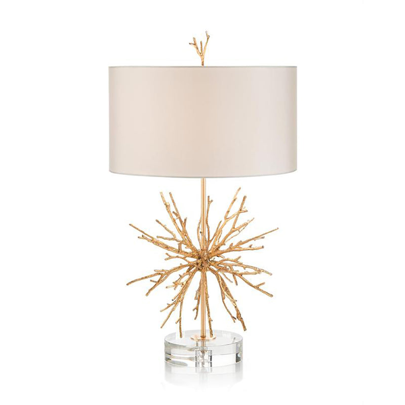 Prana Brass Spike Lamp With Crystal Base
