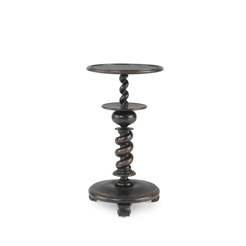 Century Furniture MN2055, Small Oak Candle Stand end Table