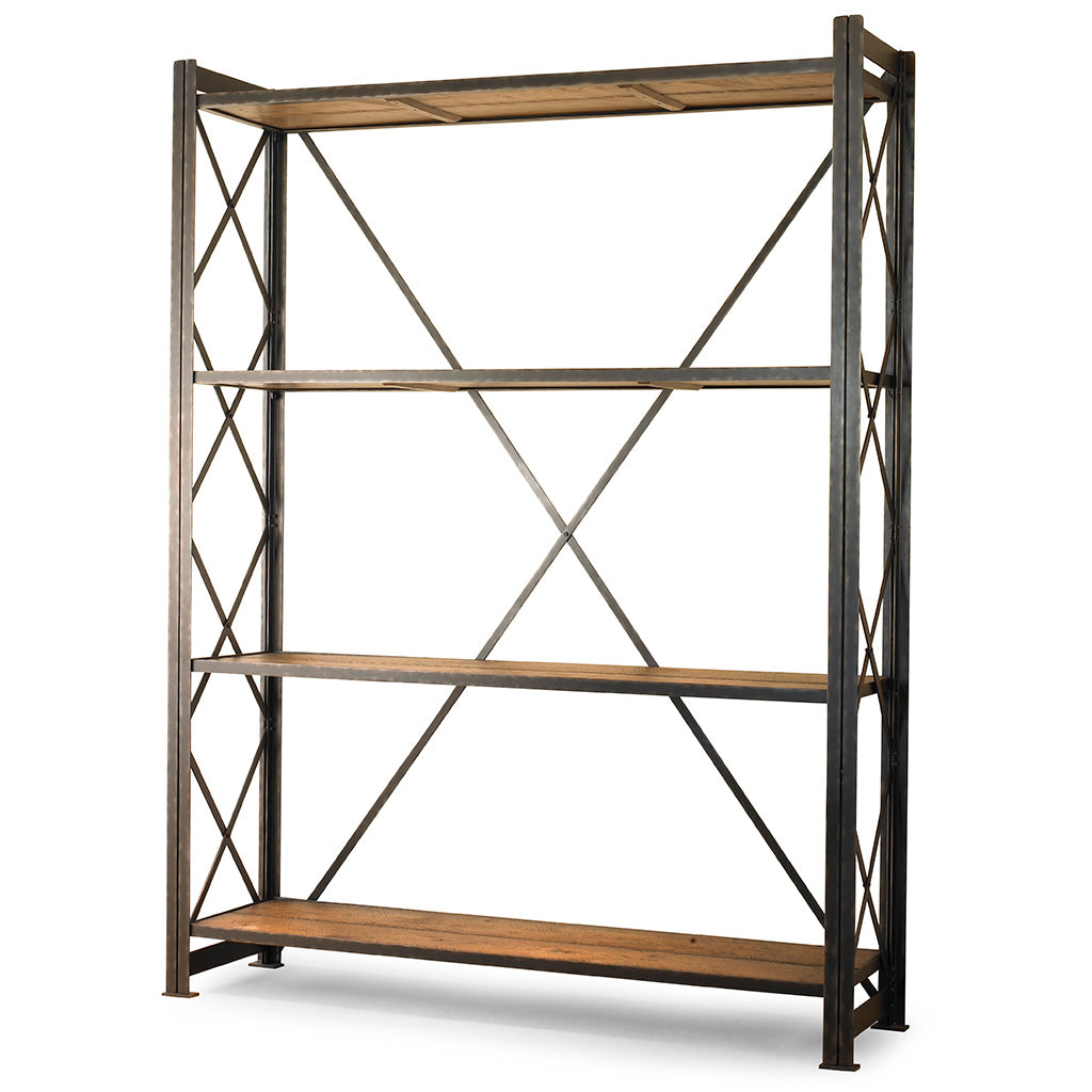 Century Furniture MN2064, iron Frame Bookcase Industrial