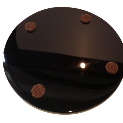 Contemporary Coaster Set, High Gloss Rosewood Black Lacquer