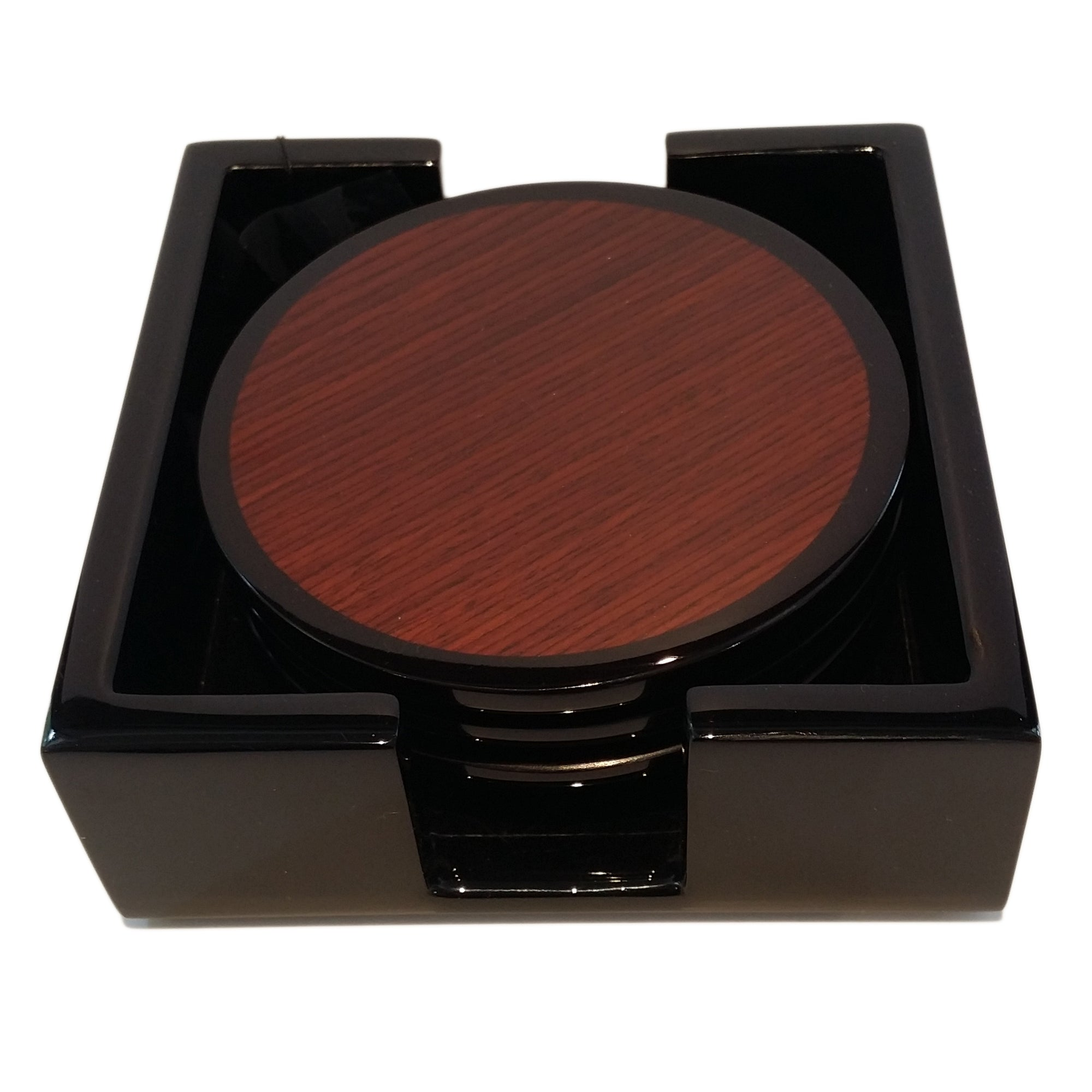 Rosewood High Gloss Lacquer Set of Coasters