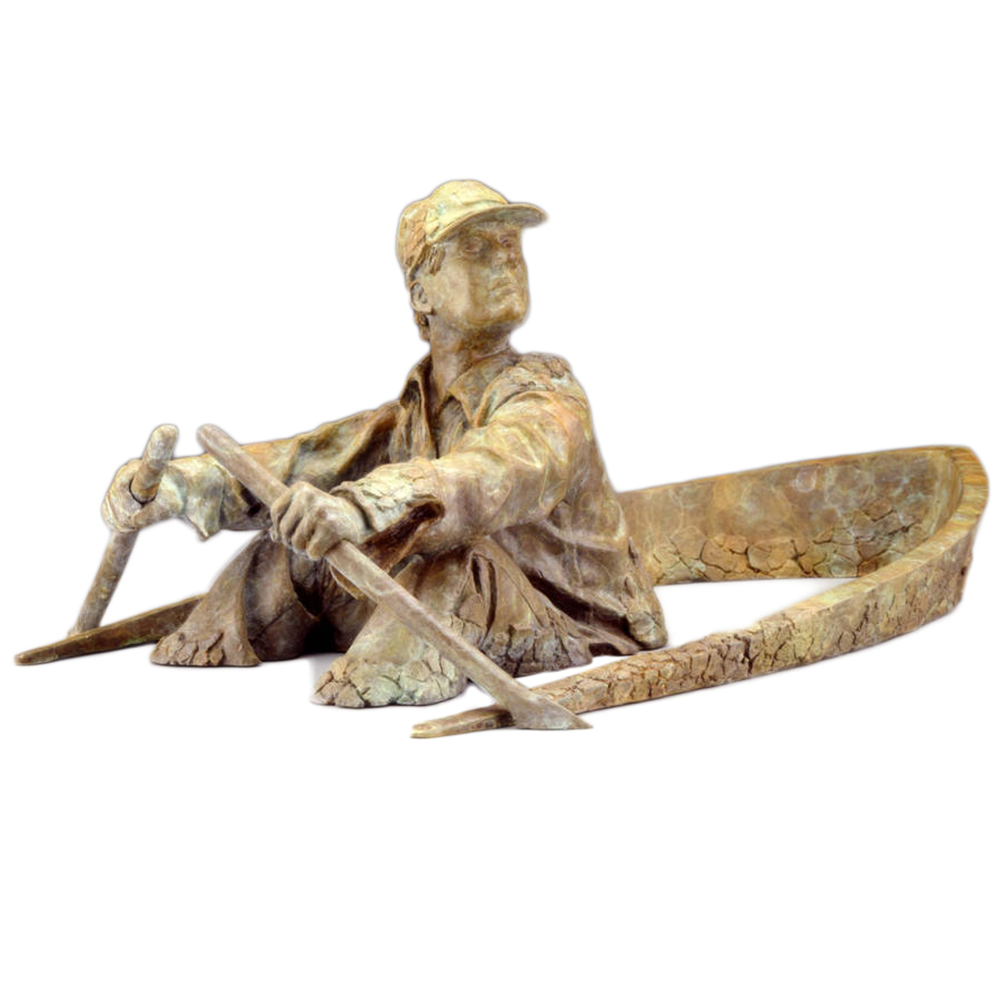 Original Bronze Sculpture: Oarsman, Artist: David Phelps