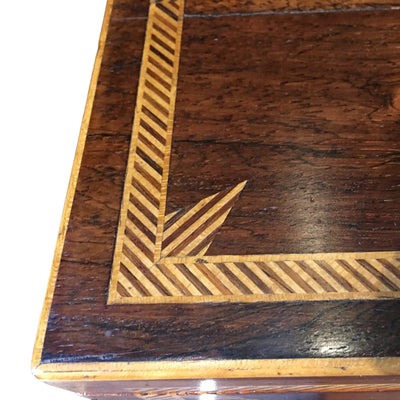 antique Marquetry Box Corner Detail