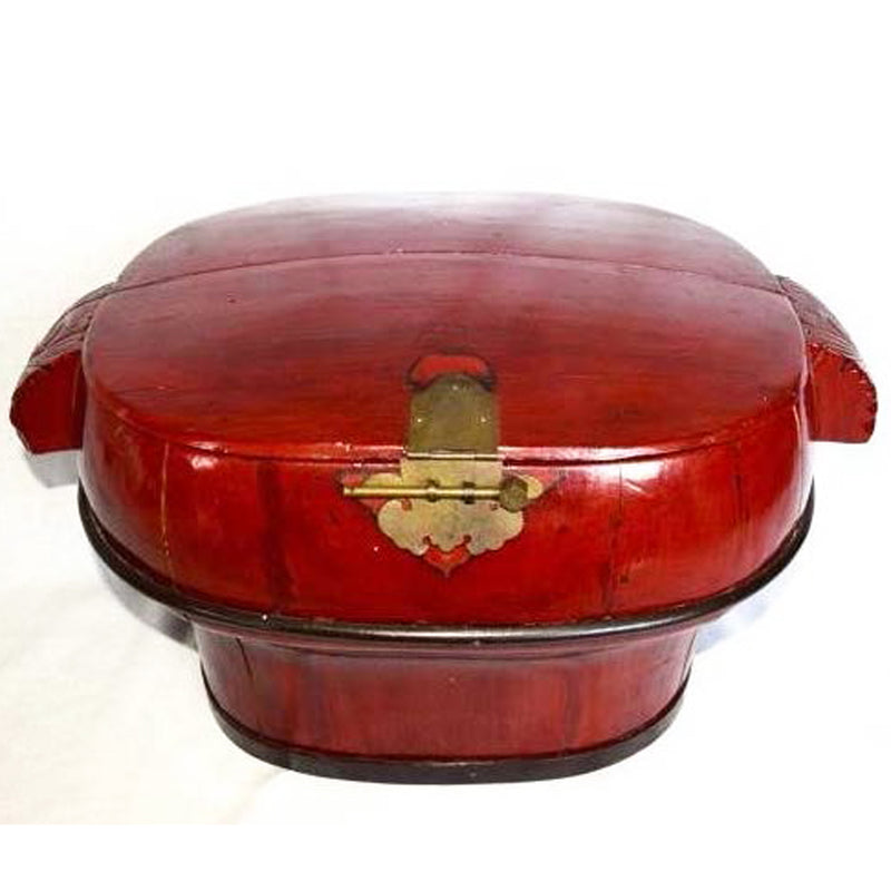 Vintage Chinese Wedding Box Accessory Oxbow Red