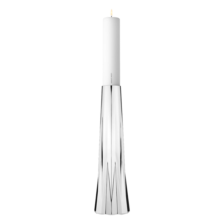Pair of Stainless Steel Candleholders - Contemporary/Modern