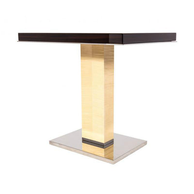 Dakota Jackson Marina End Table Macassar Ebony with Sycamore Veneers