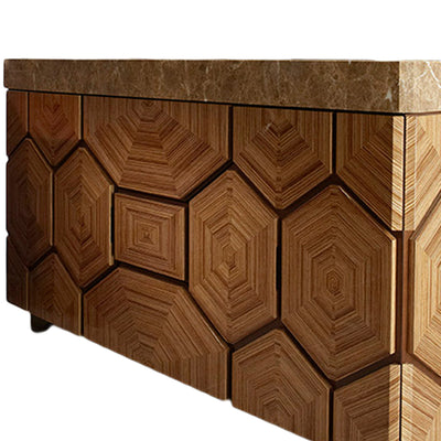 Matsuoka Furniture Cabinet with High Gloss Zebrano matched Veneers