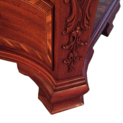 John Widdicomb Inlaid Drawer Chest Leg Detail