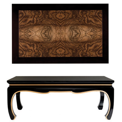 Asian Burlwood Cocktail Table