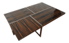 Brueton Cocktail Table Rectangular Polished Stainless Steel with High Gloss Macassar Ebony