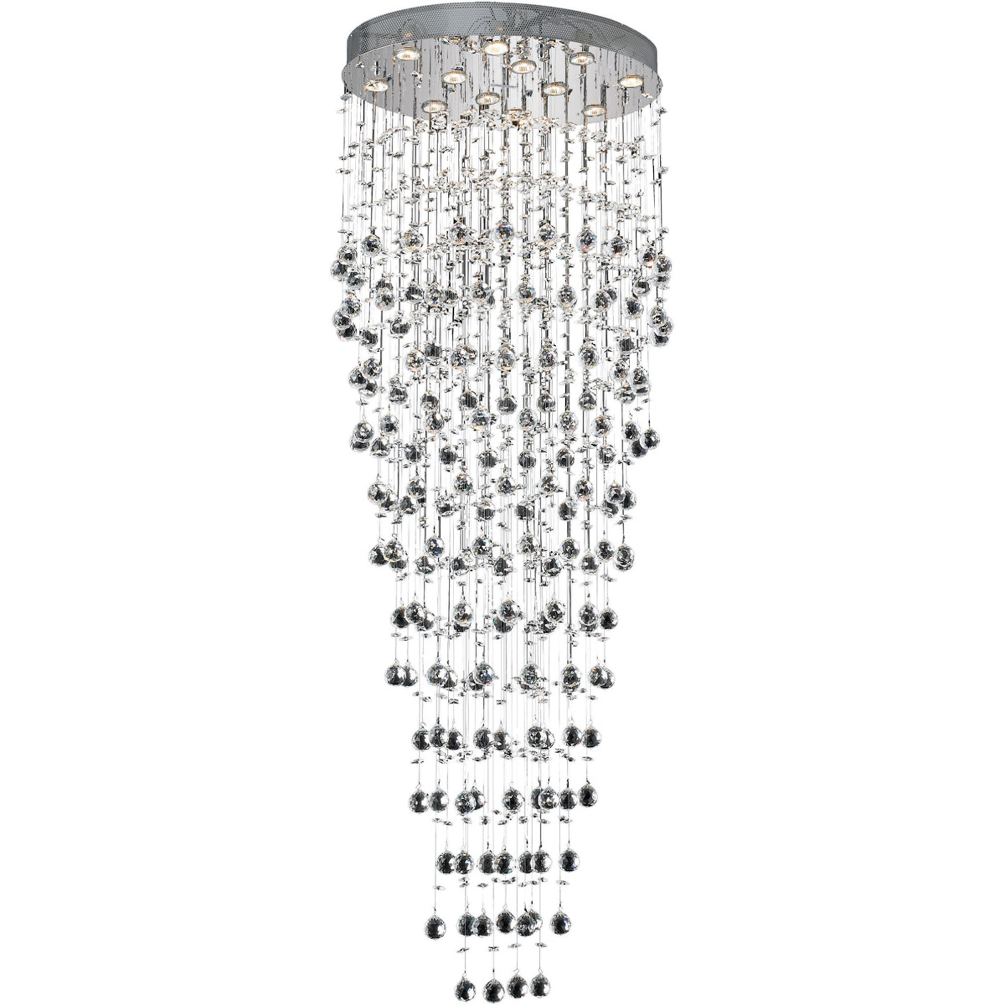 "Crystal Chandelier  72"" Height 12 Lights/Halogen"