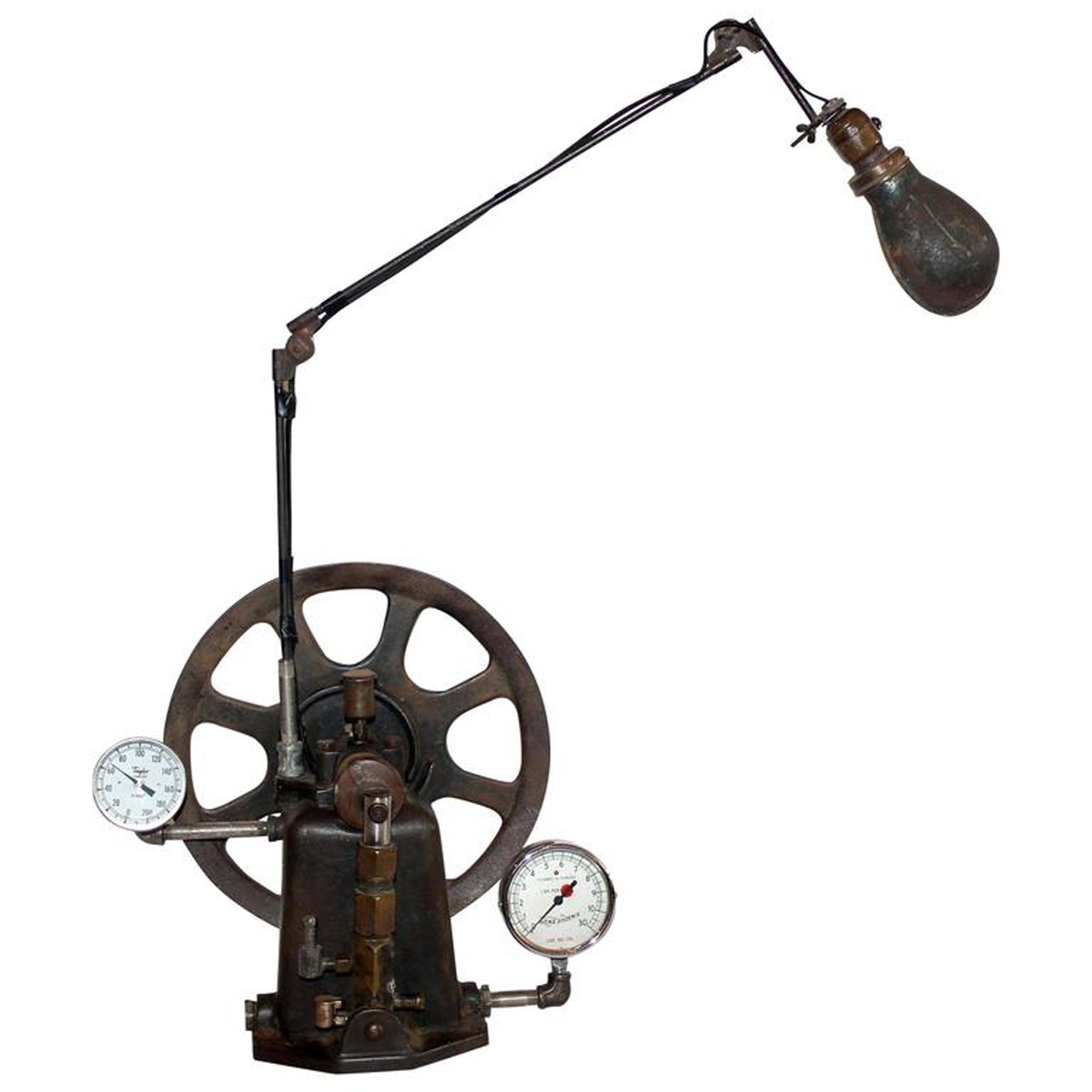 Table Lamp: Stempunk Industrial