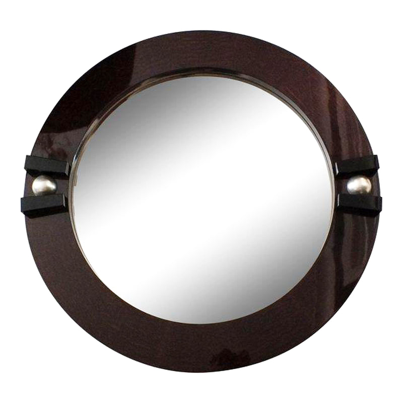 Macassar Ebony Post Modern Contemporary Mirror