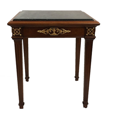 Empire Marble Top end Table 16th Century period  Black Marble Top