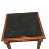 Occassional Table with Carved Apron with Gold Leaf on Carvings Black Marble Top
