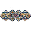 Table Runner Beaded Blue orange colors
