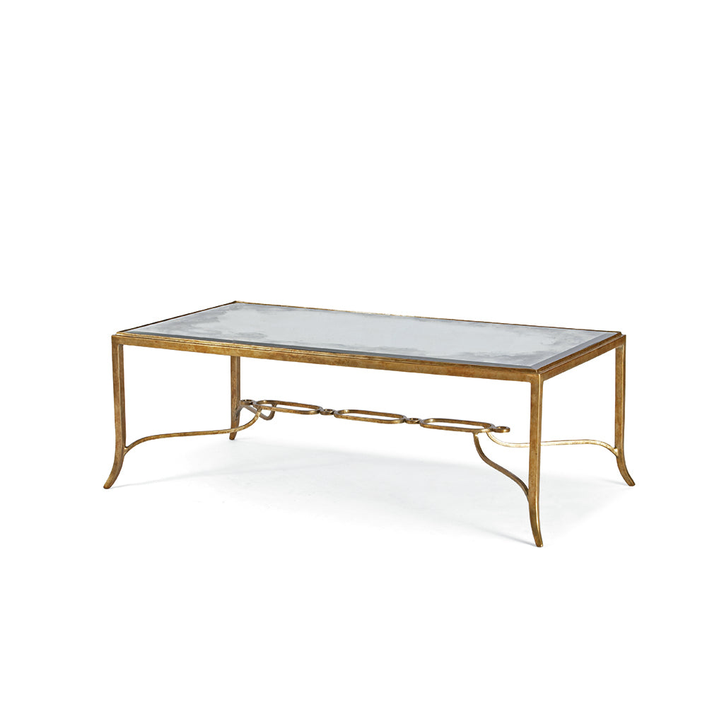 Century Furniture SF5140, Iron cocktail Table Bronze Finish