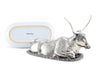 Pewter Longhorn Steer Butter Dish