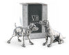 Pewter Spaniel Salt & Pepper Set