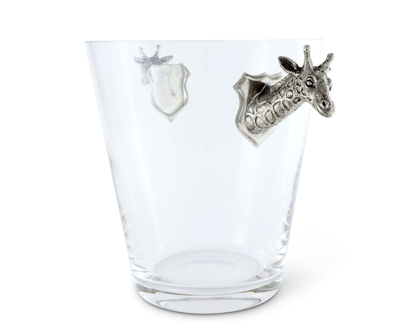 Glass Ice Bucket Giraffe Handles