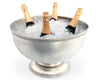 Pewter Medici Bead Ice Tub/Punch Bowl