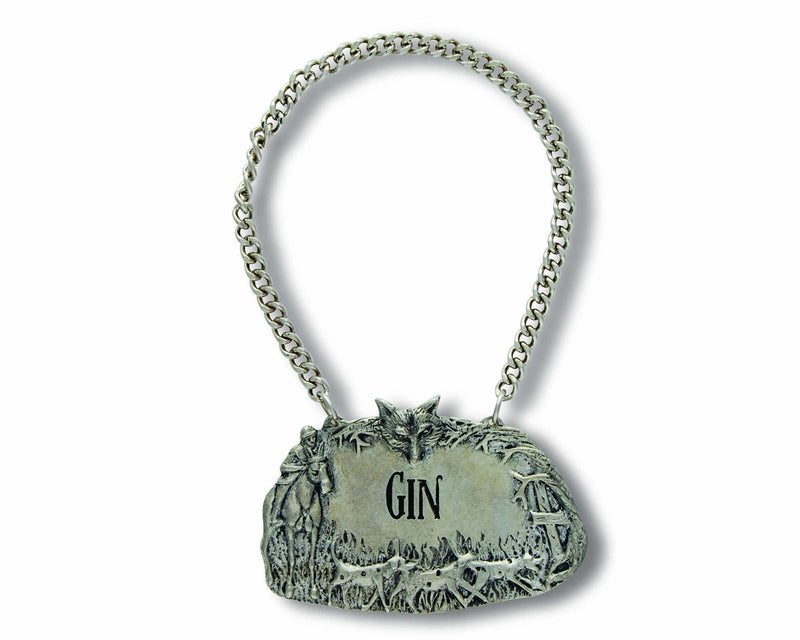 Pewter Hunt Decanter Tags